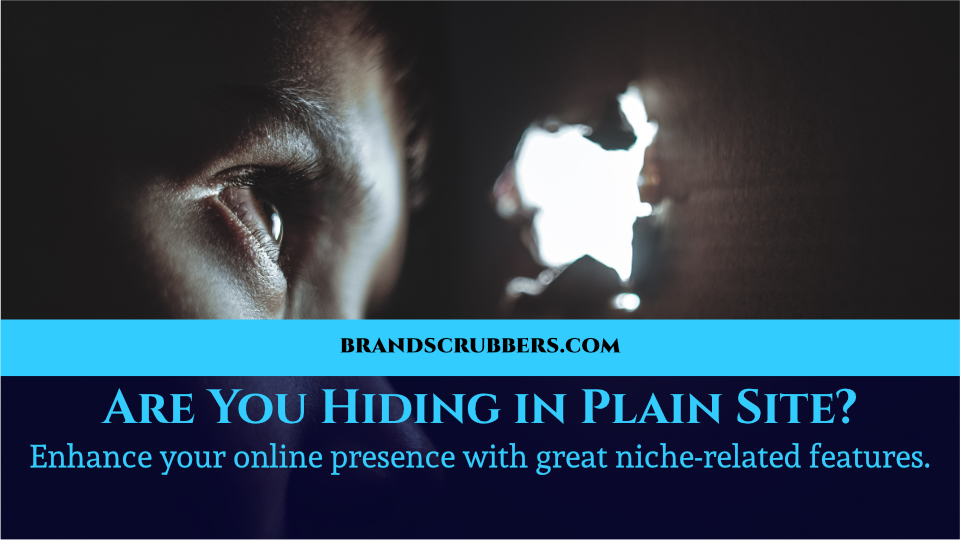 Are You Hiding in Plain Site? Enhance your online presence with great niche-related features.
