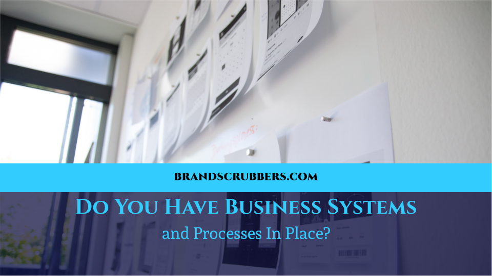 Do You Have Business Systems and Processes In Place?